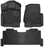 Husky Liners 53361-53381 – X-Act Contour – First and Second Rows (Footwell Coverage Only in Second Row) All Weather Custom Fit Floor Liners for 2017 Ford F-250/F-350/F-450 Super Duty Crew Cab – Black