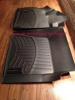 WeatherTech Custom Fit Front FloorLiner for Toyota Prius (Black)