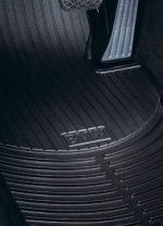 BMW 3 Series (E90) 2006-2012 all-weather rubber floor mats — FRONT Black