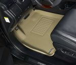 3D MAXpider Front Row Custom Fit All-Weather Floor Mat for Select Cadillac CTS Models – Kagu Rubber (Tan)