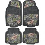 BDK Camouflage 4 Piece All Weather Waterproof Rubber Car Floor Mats – Fit Most Car Truck SUV, Trimmable, Heavy Duty
