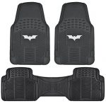 Dark Knight Batman Rubber Floor Mats for Car – 3 PC Set, Warner Brothers, Trimmable to Fit