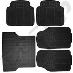 ECCPP 5PCS All Weather Heavy Duty Rubber Trunk Cargo SUV Floor Mat Black for SUV Van
