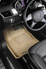 3D MAXpider Front Row Custom Fit All-Weather Floor Mat for Select Honda Civic Models – Kagu Rubber (Tan)