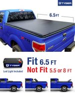 Tyger Auto TG-BC3F1020 Tri-Fold Pickup Tonneau Cover (Fits 09-14 Ford F-150 (NOT Flareside) w/o Utility Track 6.5 feet (78 inch))