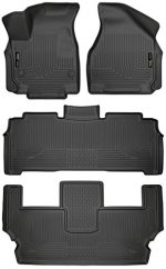 Husky Liners 13011-14011-14021 – Weatherbeater Series – First, Second, and Third Row Custom Fit All Weather Floor Liners for 2017 Chrysler Pacifica (Black)