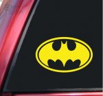 Batman Bat Symbol Vinyl Decal Sticker (8″ X 5″, Yellow)