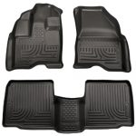 Husky Liners Front & 2nd Seat Floor Liners (Footwell Coverage) Fits 10-16 Taurus
