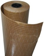Plasticover Reinforced Kraft Floor Protection Paper, Plastic Coated and Fiberglass Threading, Brown, 36″ Wide by 200′ Long