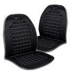 Zone Tech Magnetic Bubble Ultra Comfort Massaging Car Seat Cushion – Set of 2 Classic Black Premium Quality Massaging Padded Car Office Home Seat Cushion for Stress Free all Day!