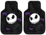 Nightmare Before Christmas Jack Skellington Graveyard Zombie NBC Front Car Truck SUV Floor Mats – Pair