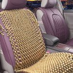 Zone Tech Natural Royal Wood Bead Seat Cover Massage Cool Premium Comfort Cushion – Reduces Fatigue the Car or Truck or your office Chair