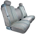 Saddleman Custom Made Front Bucket Seat Covers – Saddle Blanket Fabric (Gray)