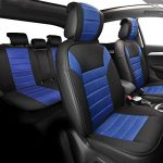 FH Group Universal Fit Complete Set Car Seat Cushion Pad – Cloth (Blue)